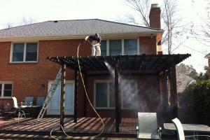 Pressure Washing Rear Deck