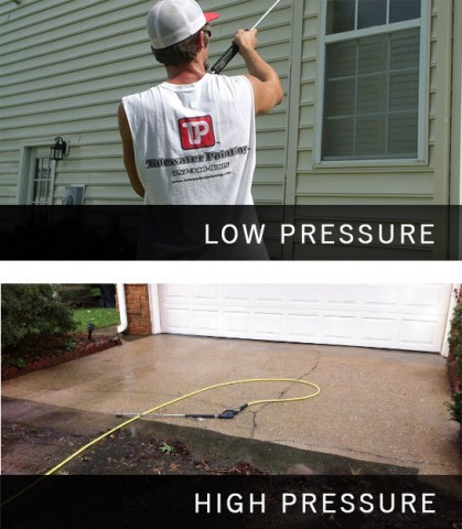 Low Pressure Siding Wash