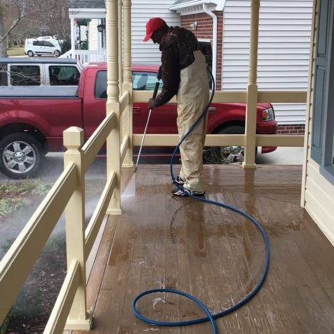 Cleaning up Front Porch & Railing