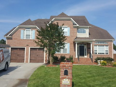 Brick Exterior Home Painted by Tidewater Painting