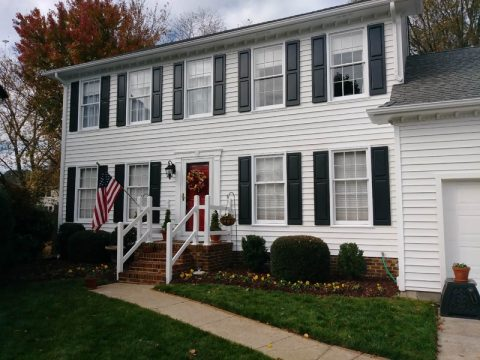 Professionally Painted White 2 Story Home