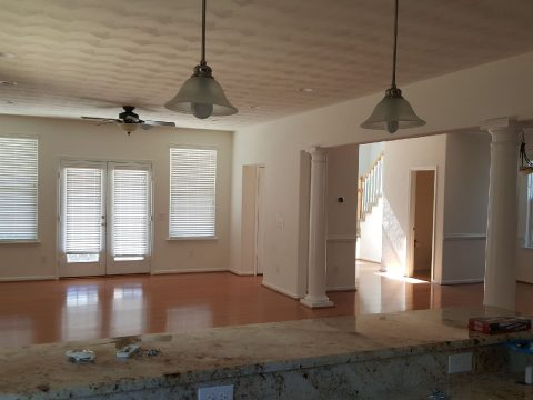 White Trim Painted and Ceilings Painted