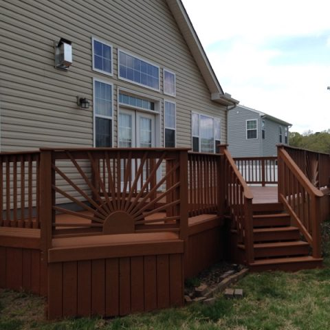 Finished Professionally Painted Deck Staining