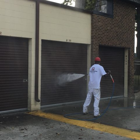 Pressure Washing Garage Doors