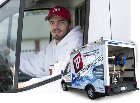 Actual Pressure Washing Box Truck